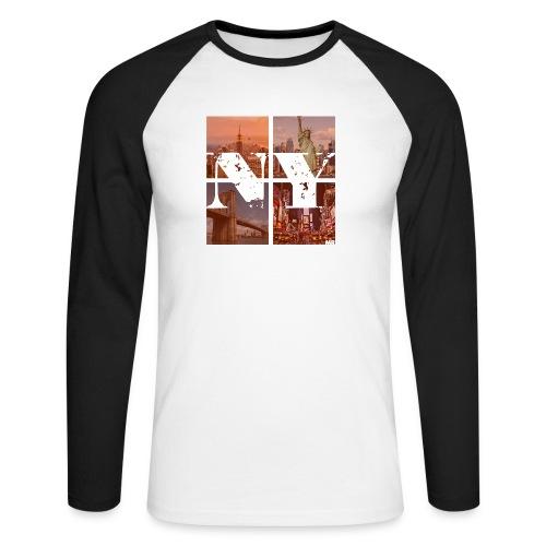 NEW YORK RED - Männer Baseballshirt langarm