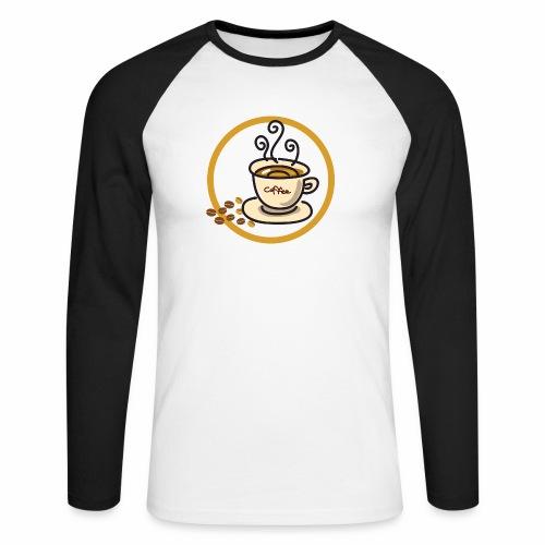 Kaffeeemblem - Männer Baseballshirt langarm