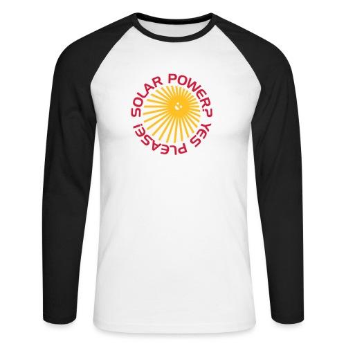 BD Solar Power - Männer Baseballshirt langarm