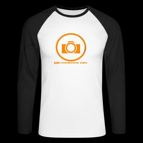 Orange 2 png - Langærmet herre-baseballshirt