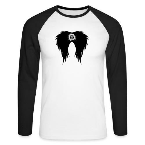 Supernatural wings (vector) Hoodies & Sweatshirts - Men's Long Sleeve Baseball T-Shirt