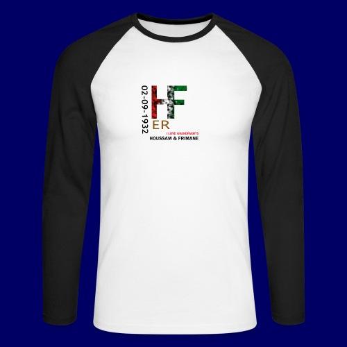 H&F ER - Maglia da baseball a manica lunga da uomo