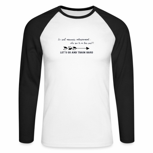train hard - T-shirt baseball manches longues Homme