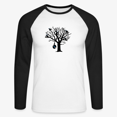 Musical Birds in Tree 2 blau Hangman Vinyl - Männer Baseballshirt langarm