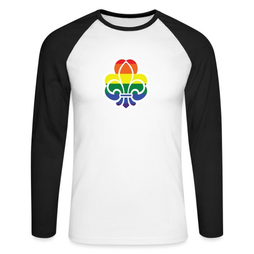 Regnbuespejder jakker og t-shirts mv - Langærmet herre-baseballshirt