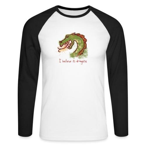 I believe in dragons - Men's Long Sleeve Baseball T-Shirt