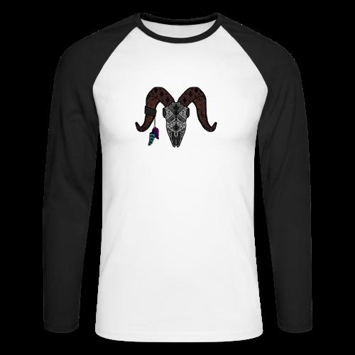 Widder-Federn - Männer Baseballshirt langarm