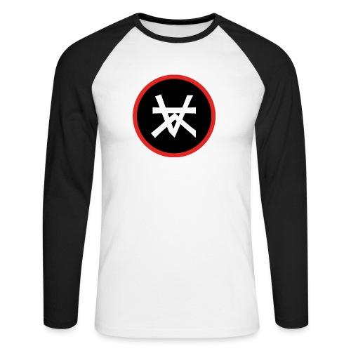 Kairos Logo Red&Round - Mannen baseballshirt lange mouw