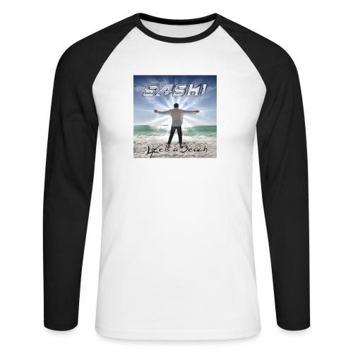 Life Is A Beach Cover - Men's Long Sleeve Baseball T-Shirt