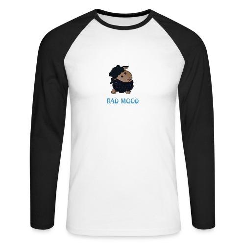 Badmood - Gaspard le petit mouton noir - T-shirt baseball manches longues Homme