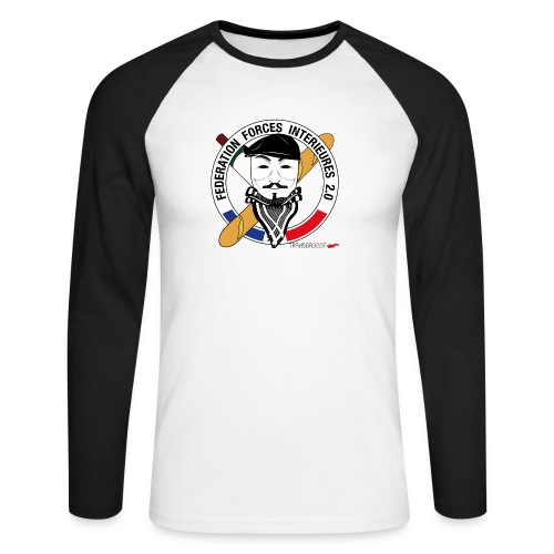 FFi Anonymous - T-shirt baseball manches longues Homme