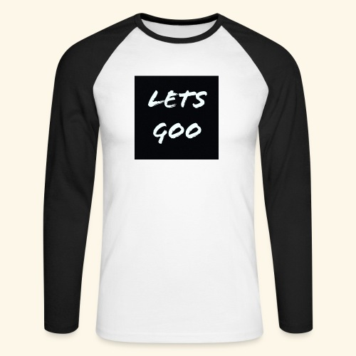 lets goo - Långärmad basebolltröja herr