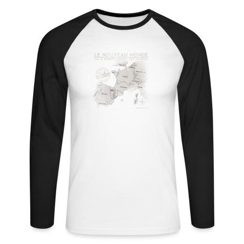 euroregions BLANC - T-shirt baseball manches longues Homme