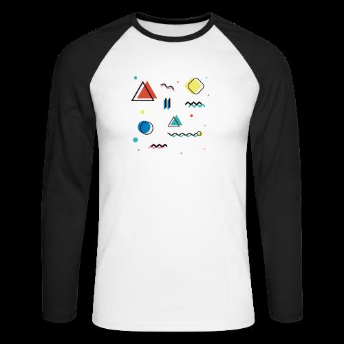 Abstract geometry - Men's Long Sleeve Baseball T-Shirt