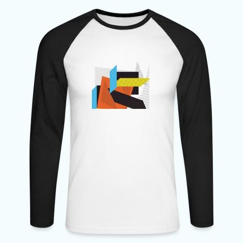 Vintage shapes abstract - Men's Long Sleeve Baseball T-Shirt