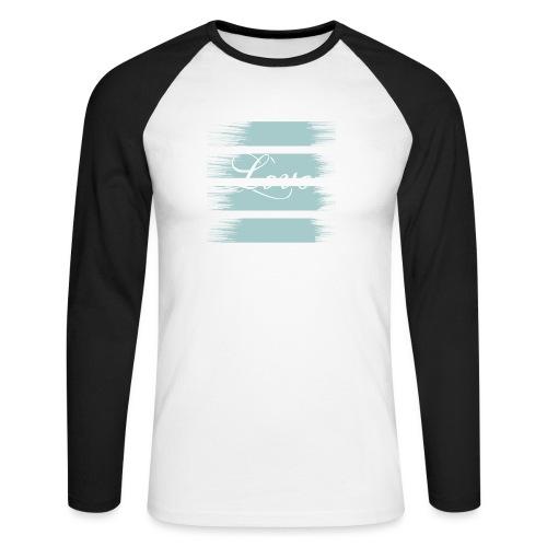 liebe - Männer Baseballshirt langarm