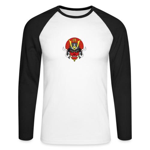 Samouraï Casque Démon - T-shirt baseball manches longues Homme