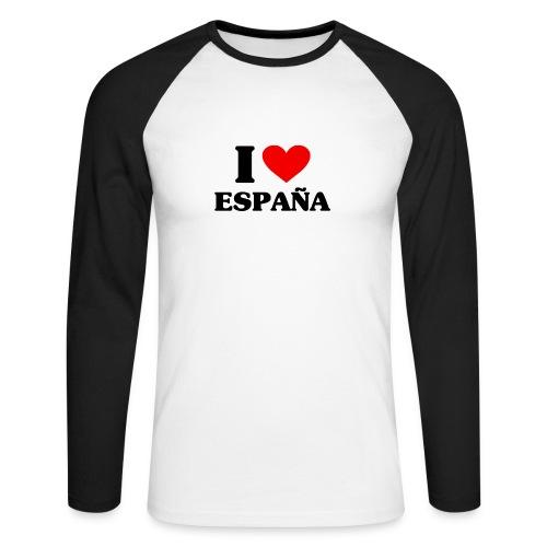 I love Espana - Männer Baseballshirt langarm