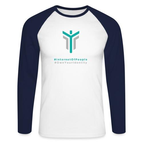 #InternetOfPeople #OwnYourIdentity - Men's Long Sleeve Baseball T-Shirt