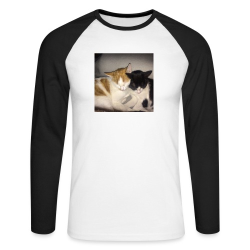 Schlafende Kätzchen - Männer Baseballshirt langarm