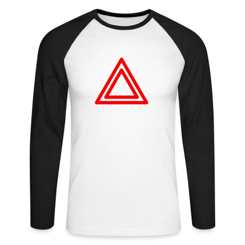 Warning - Men's Long Sleeve Baseball T-Shirt