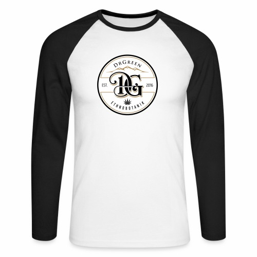 drgreen buttons weiß - Männer Baseballshirt langarm