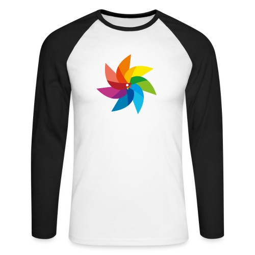bunte Windmühle Kinderspielzeug Regenbogen Sommer - Men's Long Sleeve Baseball T-Shirt