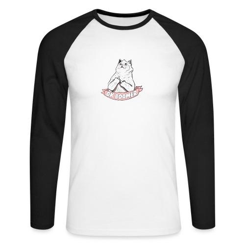 OK Boomer Cat Meme - Men's Long Sleeve Baseball T-Shirt