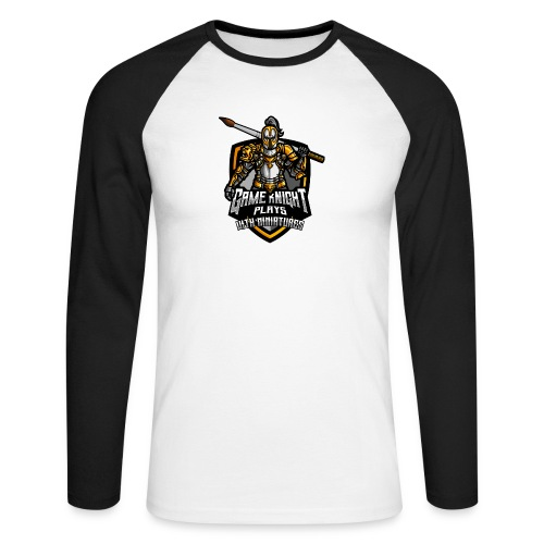Game kNight Plays with Miniatures - Men's Long Sleeve Baseball T-Shirt