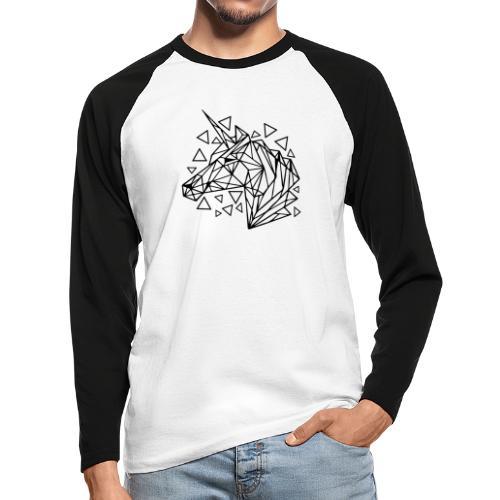 unicornio minimalista - Raglán manga larga hombre