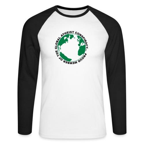 Global Atheist Conspiracy - Men's Long Sleeve Baseball T-Shirt