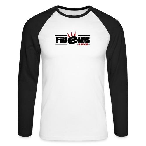 friendslogo black - Männer Baseballshirt langarm