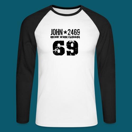 john 2469 numero trasp per spread nero PNG - Maglia da baseball a manica lunga da uomo