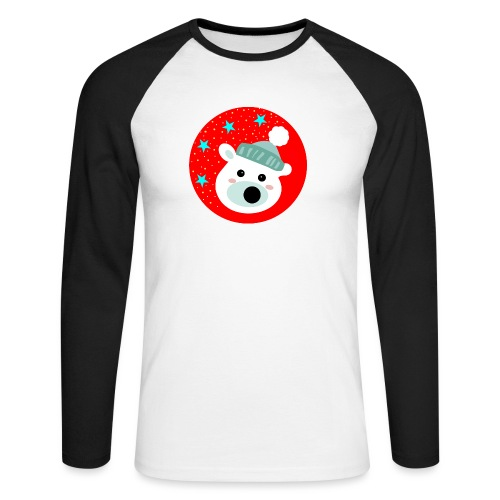 Winter bear - Men's Long Sleeve Baseball T-Shirt