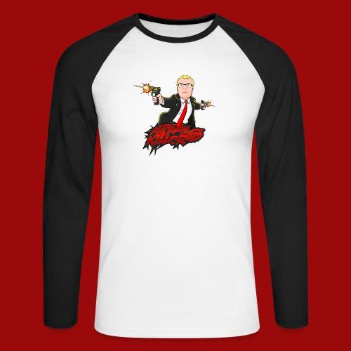 Auftragskillerx2 Comic Desing - Männer Baseballshirt langarm
