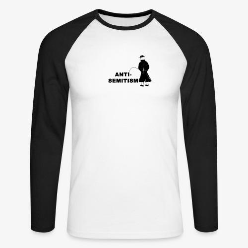 Pissing Man against anti-semitism - Männer Baseballshirt langarm