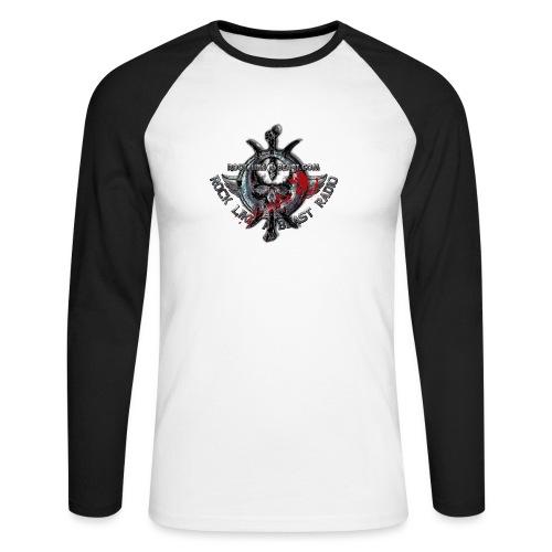 Blood Skull Logo - Långärmad basebolltröja herr