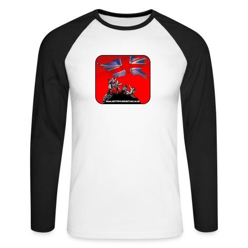 British Horror Films logo - Men's Long Sleeve Baseball T-Shirt