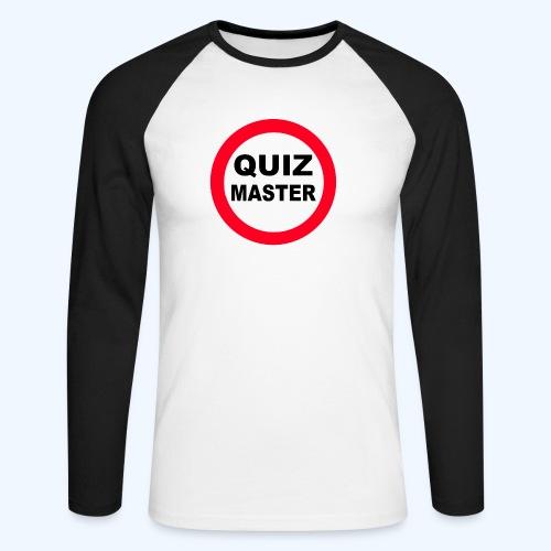Quiz Master Stop Sign - Men's Long Sleeve Baseball T-Shirt