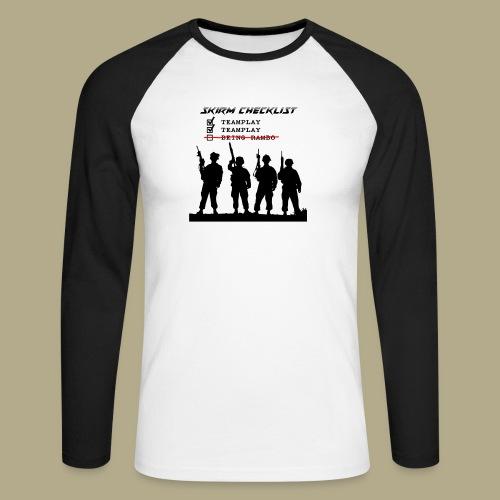 Skirm Checklist - Mannen baseballshirt lange mouw