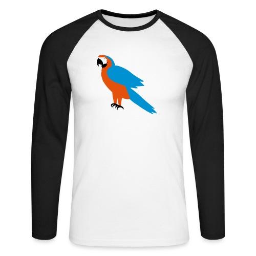 Parrot - Maglia da baseball a manica lunga da uomo