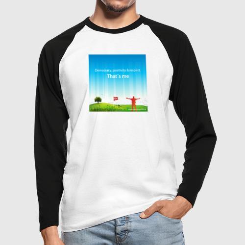 Rolling hills tshirt - Langærmet herre-baseballshirt