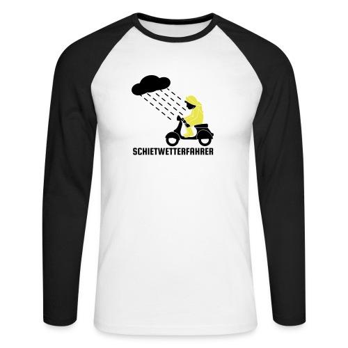 Schietwetterfahrer - Männer Baseballshirt langarm
