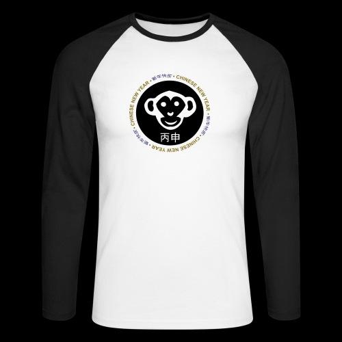CHINESE NEW YEAR monkey - Men's Long Sleeve Baseball T-Shirt