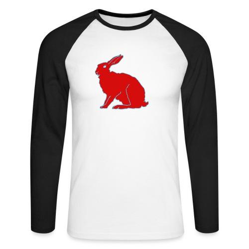 Roter Hase - Männer Baseballshirt langarm