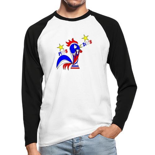 coupe du monde football 2018 mondial France 2018 - T-shirt baseball manches longues Homme
