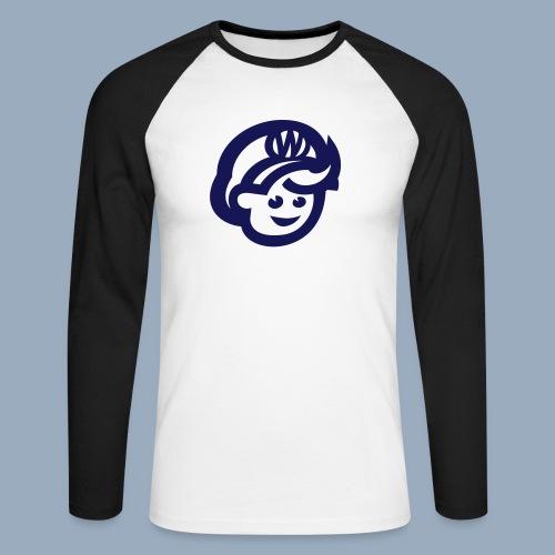logo bb spreadshirt bb kopfonly - Männer Baseballshirt langarm