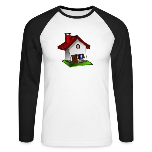 Haus - Männer Baseballshirt langarm