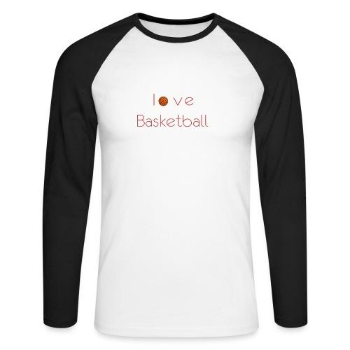 love basketball - Koszulka męska bejsbolowa z długim rękawem