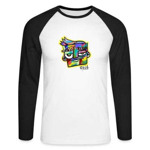 Rilla colour face - Mannen baseballshirt lange mouw